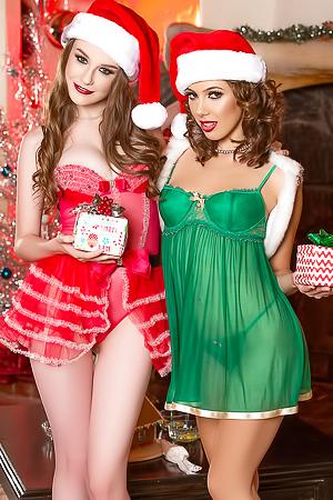 2 Girls In Sexy Santa Costume