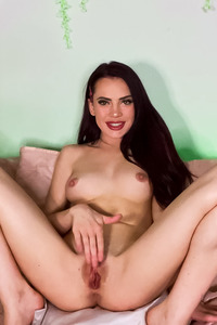 Sabina Rouge Slide Fingers Deep Down Her Pussy