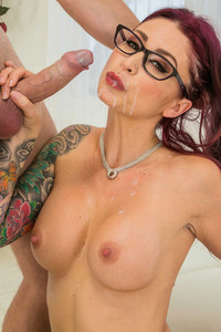 Monique Alexander Gets Cum On Face And Boobs