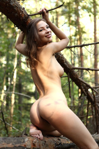 Beautiful Russian Girl Galina A With Butterfly Wings