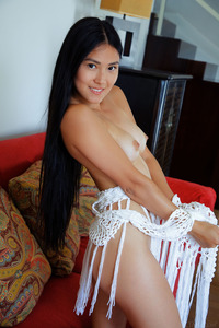 Kimiko Gets Naked And Lies On The Sofa