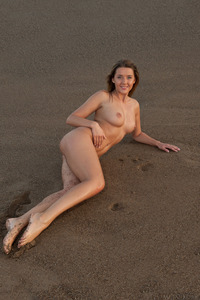 Sybil A With Gorgeous Breasts Naked On The Beach