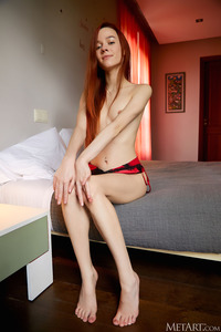 Sherice Russian Beauty Slips Her Red And Black Lace