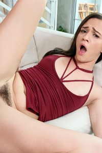 Tiny Babe Alex More Sucking Huge Cock