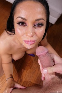 Crystal Rush Gets Mouthful Cum After Sucking Like A Pro