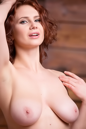 Busty Brunette Aphrodita Totally Nude