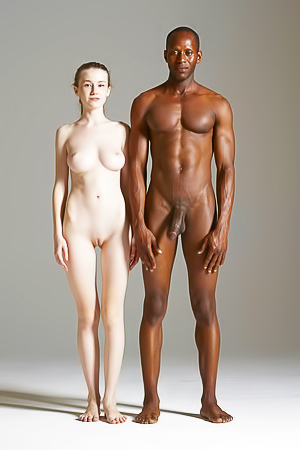 Teen Model Emily Bloom Pose With Big Black Dude