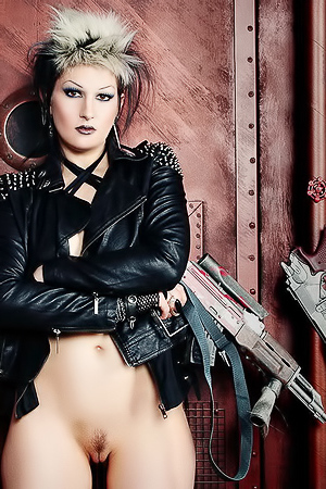 Gothic Cyberpunk Wastelad Warrior...