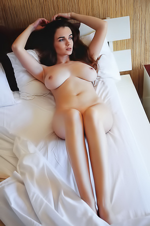 Young Babe Maible Shows Natural Boobs