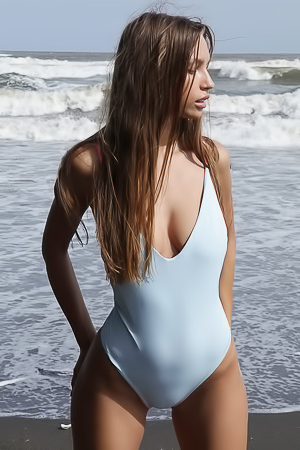 Glamour Young Babe Is Out Of Sexy Swimsuit