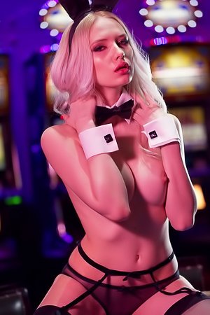 Monica Wasp gives a naked tour of the Playboy Club