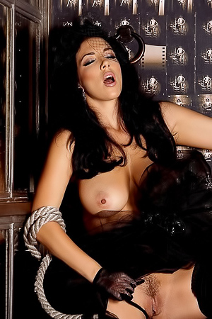 Stunning Brunette Jelena Jensen In Stockings