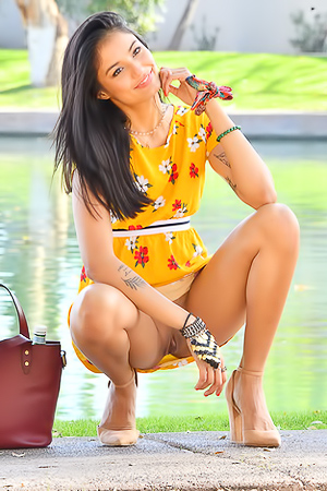 FTV Viva Teases At Public In Little Dress