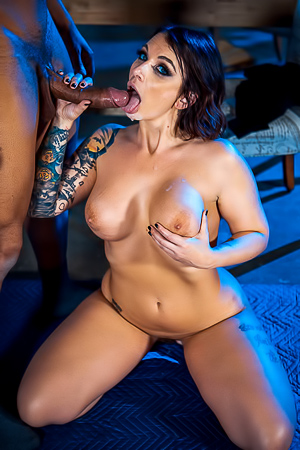 Ivy Lebelle Tasting New Big Black Cock