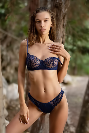 Alina Feels Much Better Without Her Black Lingerie On
