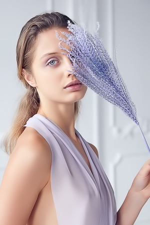 'Lavender Kiss' with Amelie Lou via Superbe Models