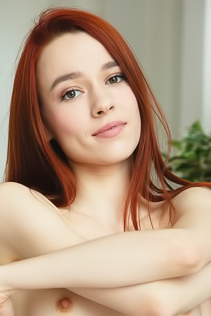 Sexy Redhead Sherice Gets Naked And Provocative Poses